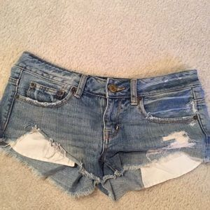 3/$20 super cute AEO cut-off shorts, size 4